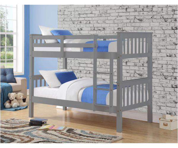Sweet Dreams Casper Grey Bunk Bed Frame