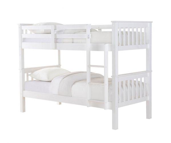 Sweet Dreams Casper White Bunk Bed Frame