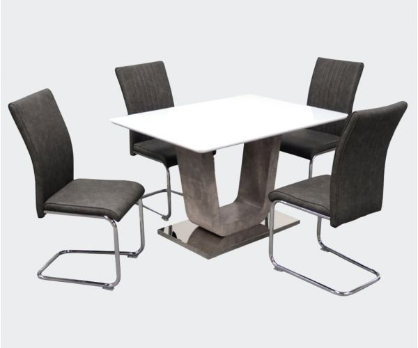 Annaghmore Castello 120cm Fixed Top Dining Table with 4 Chairs