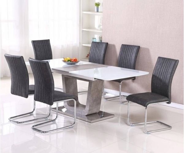 Annaghmore Castello 160cm Extension Dining Table With 6 Chairs