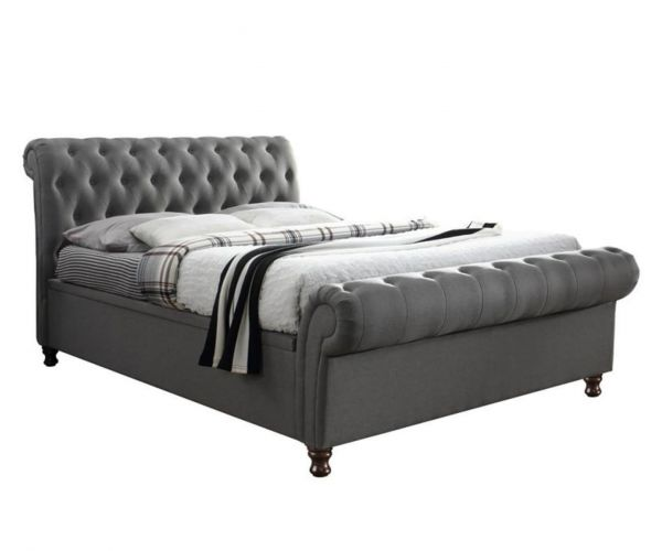 Birlea Furniture Castello Grey Fabric Side Ottoman Bed Frame