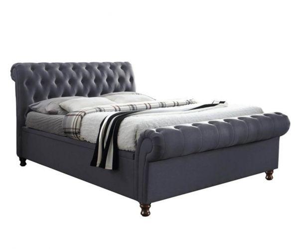Birlea Furniture Castello Charcoal Fabric Side Ottoman Bed Frame