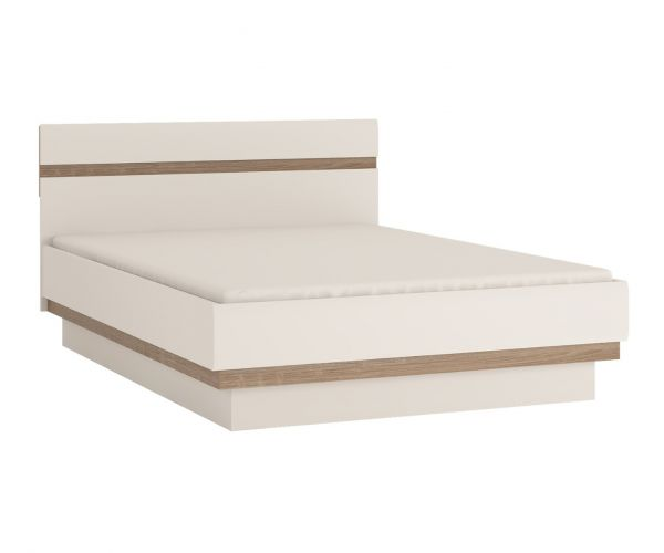 FTG Chelsea White Bedroom Bed with Truffle Oak Trim