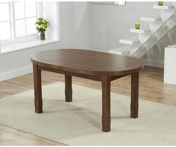 Mark Harris Cheyenne Oval Dark Oak Extending Dining Table Only