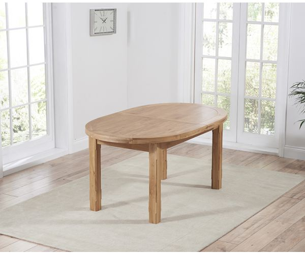 Mark Harris Cheyenne Oval Oak Extending Dining Table Only
