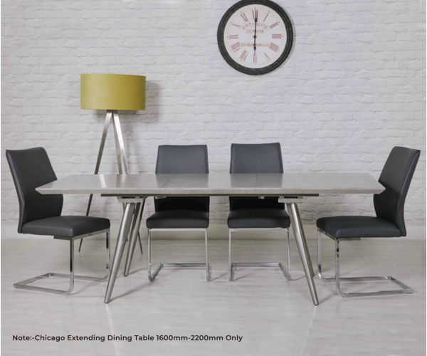 Furniture Line Chicago Extending Dining Table Only