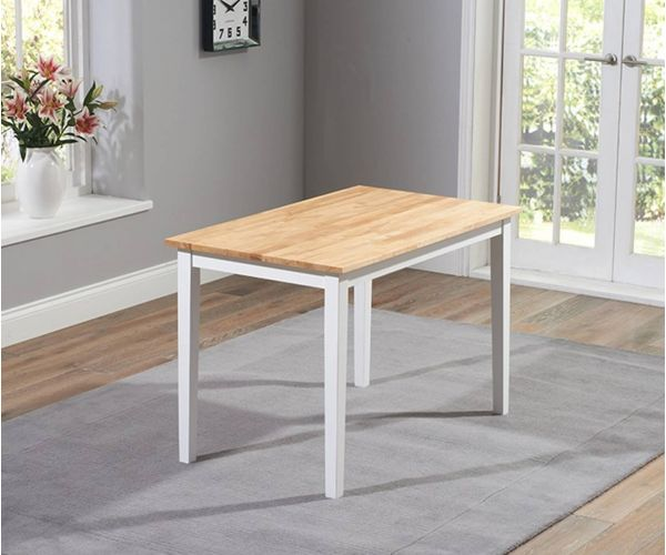 Mark Harris Chichester Solid Oak and White Small Dining Table Only