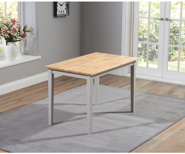 Mark Harris Chichester Solid Oak and Grey Small Dining Table Only
