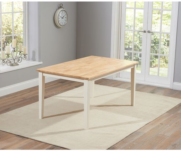 Mark Harris Chichester Solid Oak and Cream Medium Dining Table Only