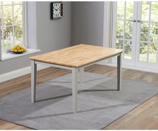 Mark Harris Chichester Solid Oak and Grey Medium Dining Table Only