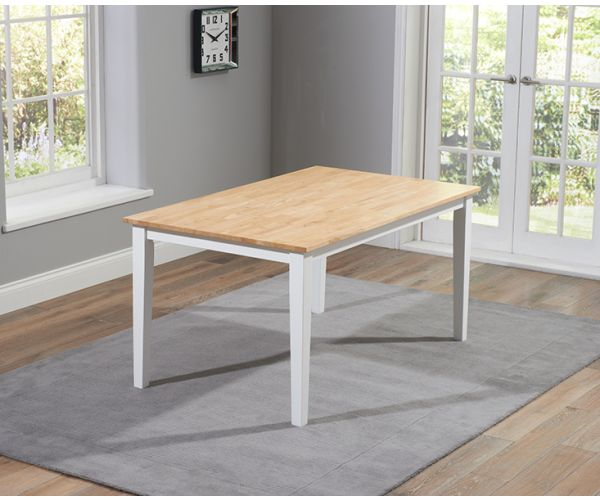 Mark Harris Chichester Solid Oak and White Medium Dining Table Only
