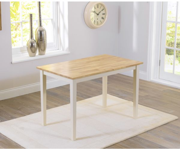 Mark Harris Chichester Solid Oak and Cream Small Dining Table Only