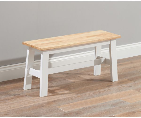 Mark Harris Chichester Solid Oak and White Small Dining Bench