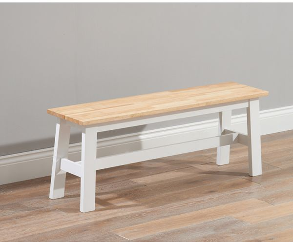 Mark Harris Chichester Solid Oak and White Large Dining Bench