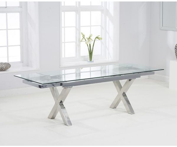 Mark Harris Cilento Glass Extending Dining Table Only