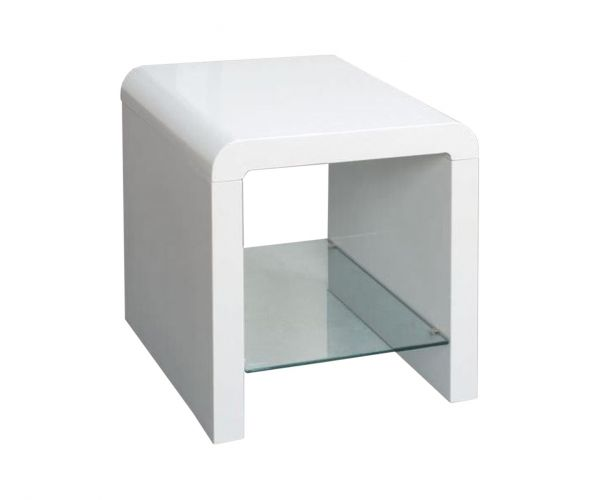 Annaghmore Clarus White End Table