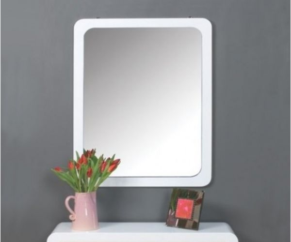Annaghmore Clarus White Rectangular Hall Mirror