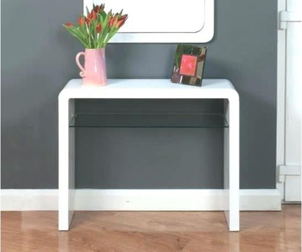 Annaghmore Clarus White Medium Console Table