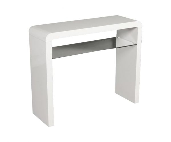 Annaghmore Clarus White Small Console Table
