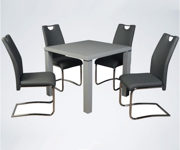 Annaghmore Clarus Grey Small Dining Table with 4 Claren Grey Chairs