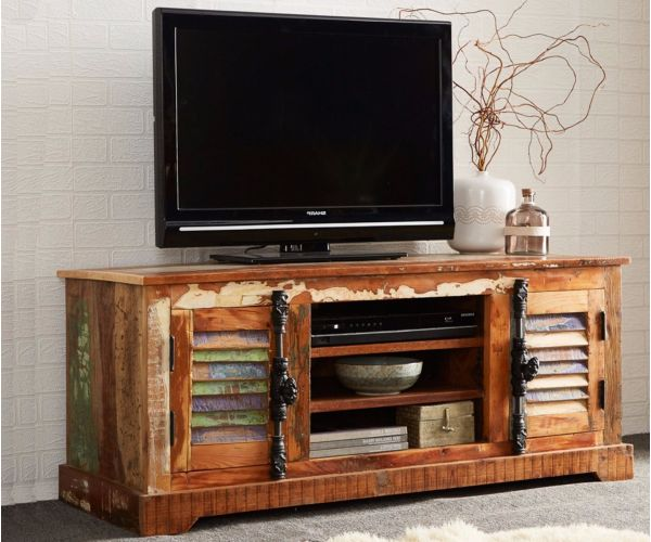 Indian Hub Coastal Reclaimed Wood TV Cabinet