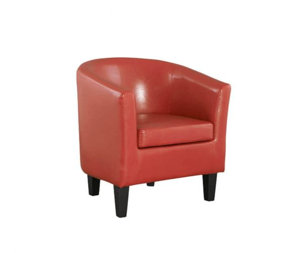 Annaghmore Colby Red Faux Leather Tub Chair