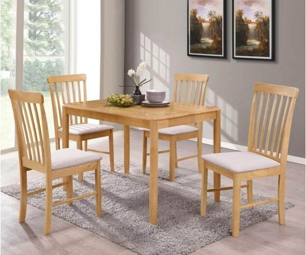 Annaghmore Cologne Light Oak Dining Table with 4 Chairs