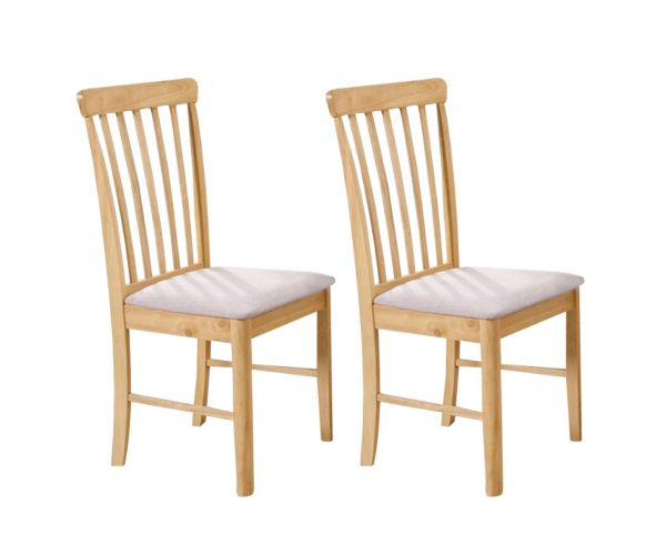 Annaghmore Cologne Light Oak Dining Chair in Pair