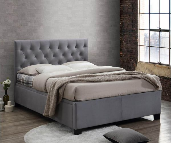 Birlea Furniture Cologne Grey Fabric Ottoman Bed Frame
