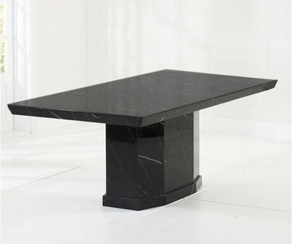 Mark Harris Como Black Constituted Marble Dining Table Only