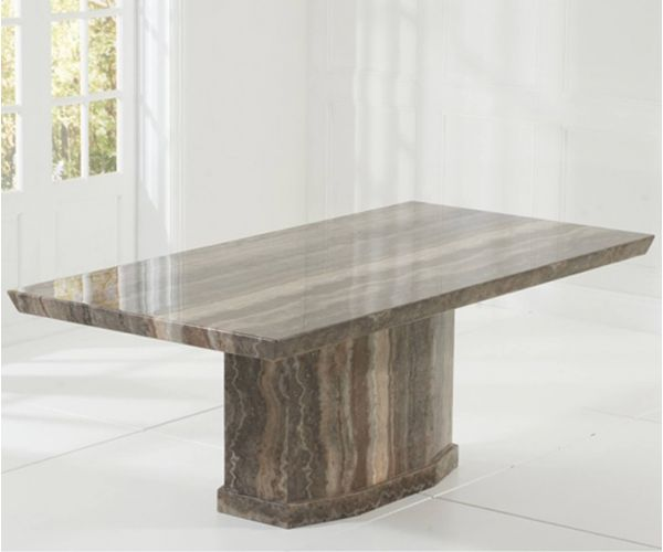 Mark Harris Como Brown Constituted Marble Dining Table Only