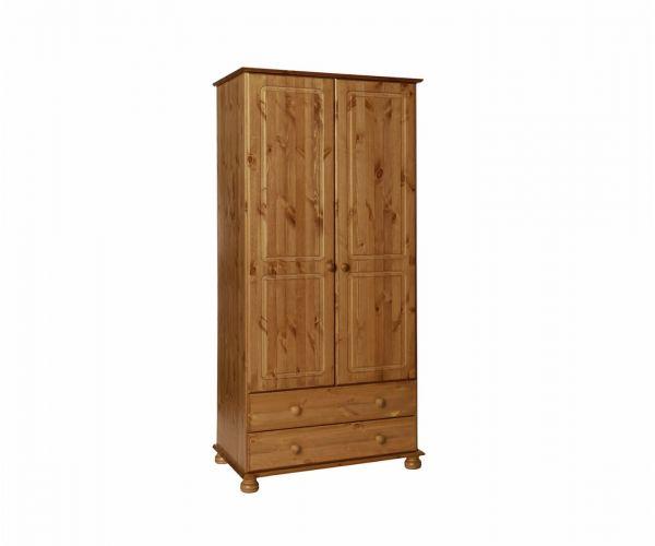 FTG Copenhagen Pine 2 Door 2 Drawer Wardrobe