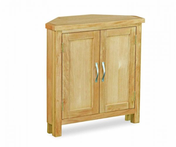 Global Home New Trinity Oak Corner Cupboard