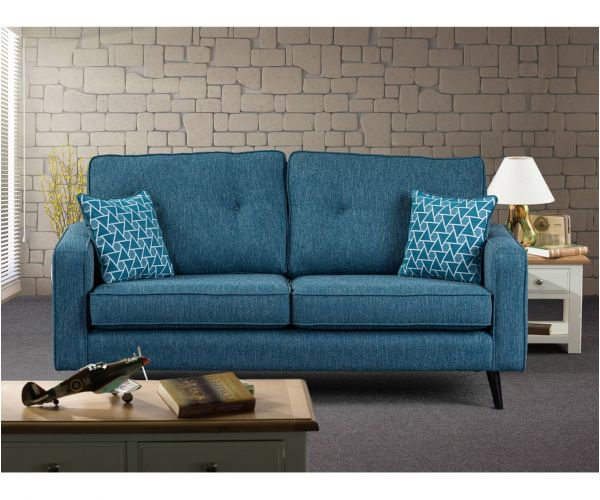 Sweet Dreams Cortona Aegean Fabric 3 Seater Chaise Sofa