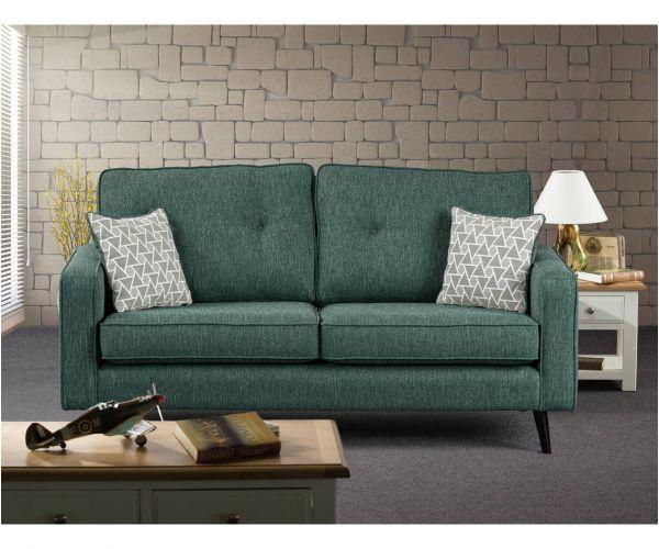 Sweet Dreams Cortona Green Fabric 3 Seater Chaise Sofa