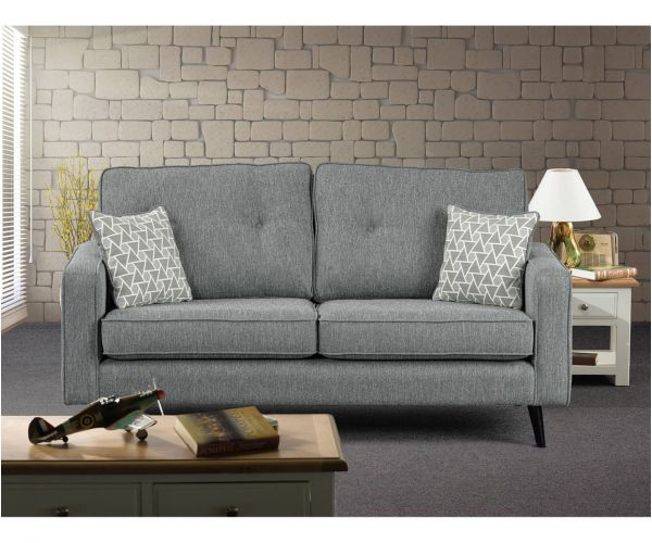 Sweet Dreams Cortona Silver Fabric 3 Seater Chaise Sofa