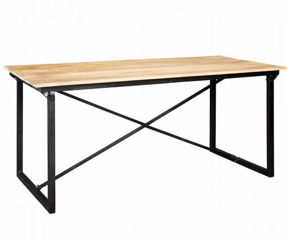 Indian Hub Cosmo Industrial Large Dining Table Only