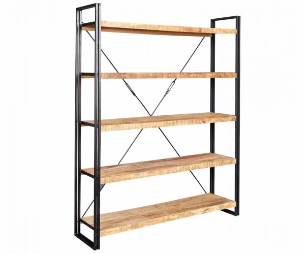 Indian Hub Cosmo Industrial Large Open Bookcase