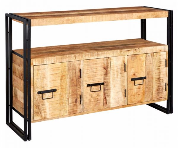 Indian Hub Cosmo Industrial 3 Door Sideboard