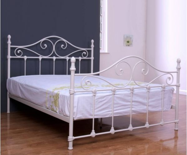 Annaghmore Cotswold Ivory Metal Bed Frame