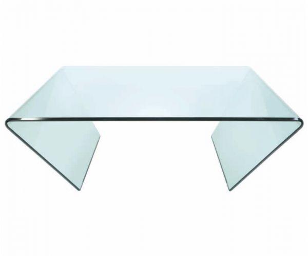 Greenapple Furniture Curvo Square Glass Coffee Table