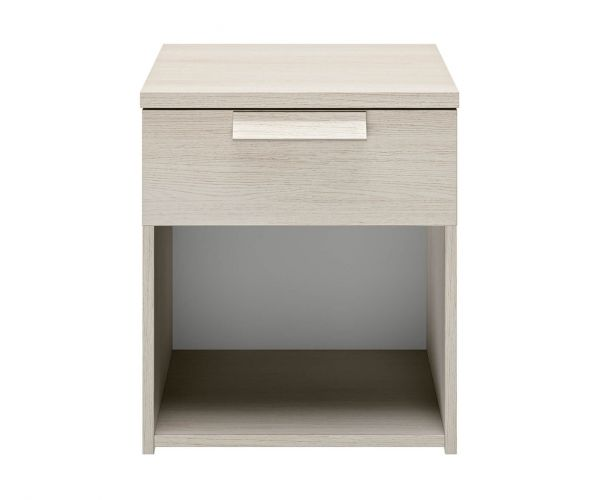 Gami Cyrus Whitewashed Ash 1 Drawer Bedside Table