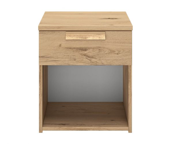 Gami Cyrus Helvezia Oak 1 Drawer Bedside Table