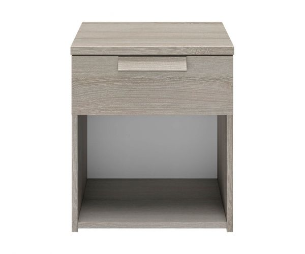 Gami Cyrus Light Grey Oak 1 Drawer Bedside Table