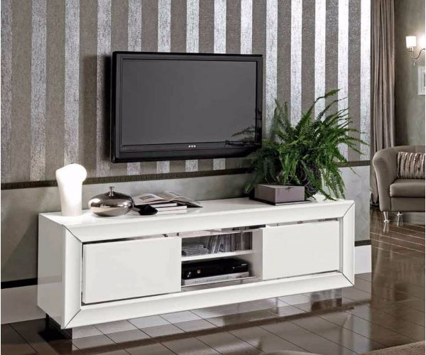Camel Group Dama Binaca White High Gloss Maxi TV Cabinet