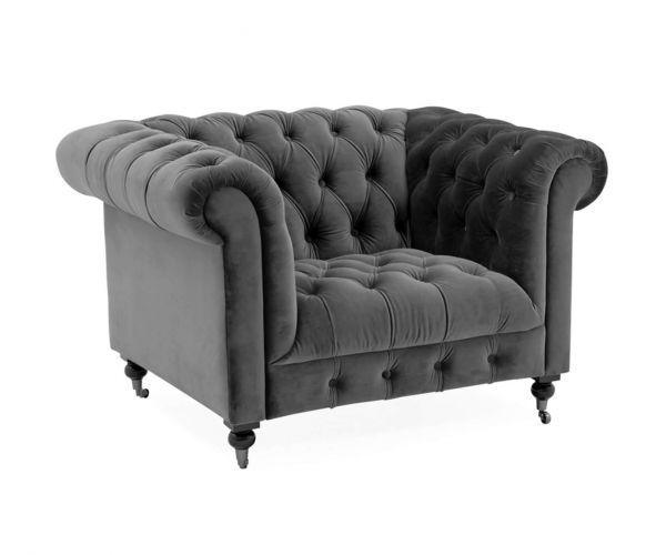 Vida Living Darby Grey Fabric Armchair