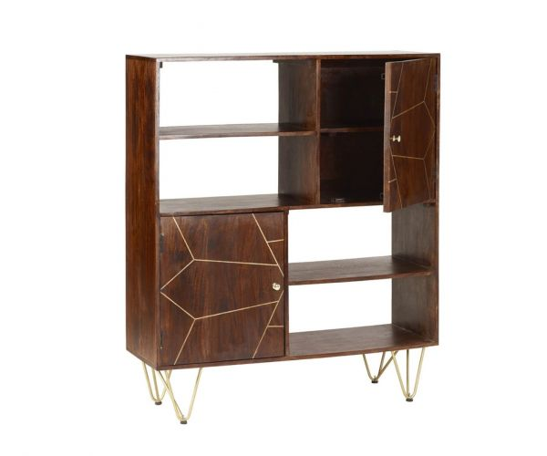 Indian Hub Dark Gold Display Cabinet