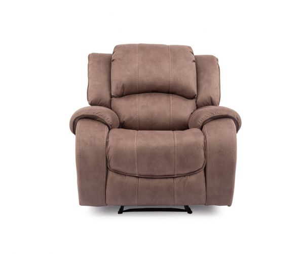 Vida Living Darwin Fabric Recliner Armchair - Biscuit