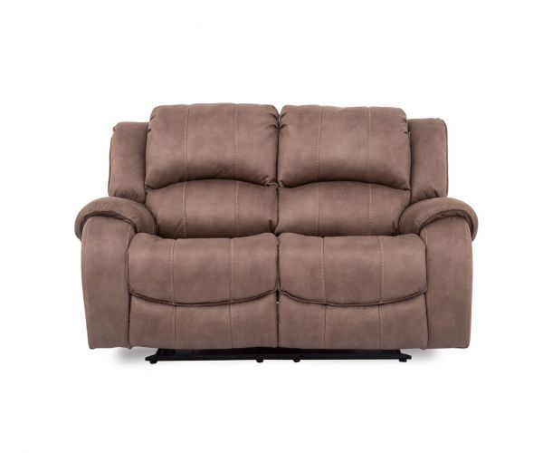Vida Living Darwin Fabric 2 Seater Recliner Sofa - Biscuit