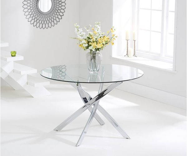 Mark Harris Daytona Round Glass Round Dining Table Only